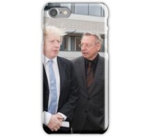 Boris Johnson with Professor Paul Workman iPhone Case/Skin