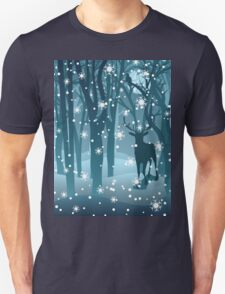 Stag in Winter Forest 2 T-Shirt