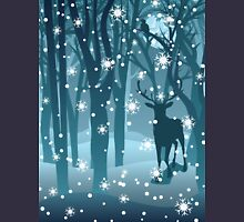 Stag in Winter Forest 2 Unisex T-Shirt