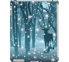 Stag in Winter Forest 2 iPad Case/Skin