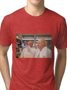 Boris Johnson with chief scientist Tony Ford Tri-blend T-Shirt