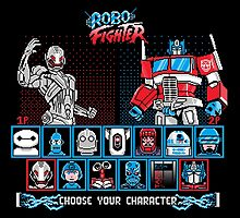 Robo Fighter shirt mug pillow iPhone 6 case leggings by lavalamp