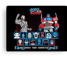 Robo Fighter shirt mug pillow iPhone 6 case leggings Canvas Print