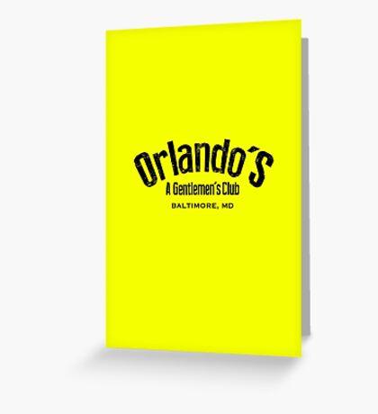 The Wire - Orlando's Gentlemen's Club Greeting Card