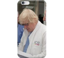 Boris Johnson visits the Institute of Cancer Research iPhone Case/Skin