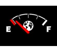 Earth running out of fuel Photographic Print
