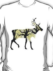 Silhouette of a deer with forest inside T-Shirt