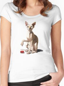 Cat-astrophe Women's Fitted Scoop T-Shirt