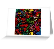 April Abstract Greeting Card