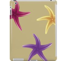 Purple, violet and yellow starfishes iPad Case/Skin