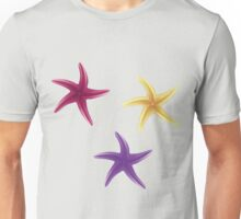 Purple, violet and yellow starfishes Unisex T-Shirt