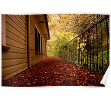 Leaf Littered Path Poster