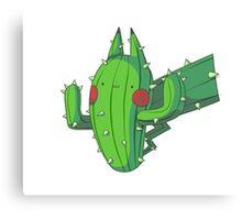 Cactus Pikachu Canvas Print