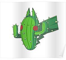 Cactus Pikachu Poster