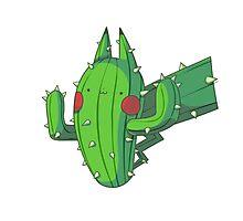 Cactus Pikachu Photographic Print