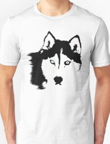 Black and White Husky Unisex T-Shirt