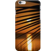 The Palm Leaf and the Setting Sun iPhone Case/Skin