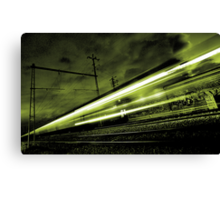 Train Simulating Life (going past us at the speed of light)... Canvas Print