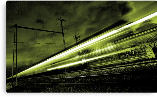 Train Simulating Life (going past us at the speed of light)... by Paul Louis Villani