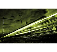Train Simulating Life (going past us at the speed of light)... Photographic Print