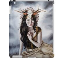 Druid Fantasy Painting with Headress iPad Case/Skin