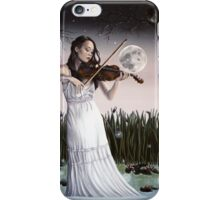 Reverie - Girl playing Violin in Moonlight iPhone Case/Skin