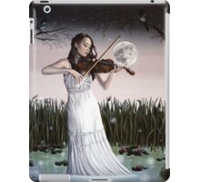 Reverie - Girl playing Violin in Moonlight iPad Case/Skin