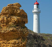 Witch Rock guarding Split Point Lighthouse at Aireys Inlet by Andy Berry