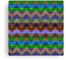 Colorful Chevron Pattern Burlap Rustic Jute #3 Canvas Print