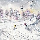 Skiing In The Dolomites In Italy 01 by Goodaboom