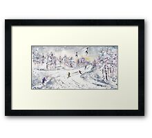 Skiing In The Dolomites In Italy 01 Framed Print