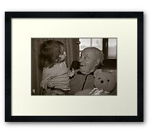 Once a upon a day, there was a teddy bear Framed Print