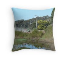 Off to work & another day on the farm !!! Throw Pillow
