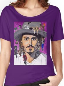 Johnny Depp W/ back Women's Relaxed Fit T-Shirt