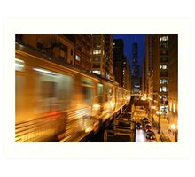 Chicago Elevated Train Art Print