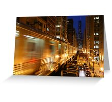 Chicago Elevated Train Greeting Card