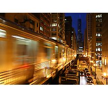 Chicago Elevated Train Photographic Print