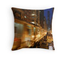 Chicago Elevated Train Throw Pillow