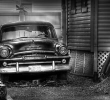 The Plymouth out back by Mike  Savad