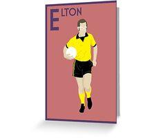 E: Elton John POSTER Greeting Card
