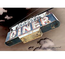 Vintage Diner Sign 1 Photographic Print