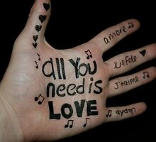 all you need is love!  by jumpbounceshout