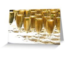 Champagne Glasses Filled Greeting Card