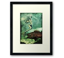 When mermaids cry Framed Print