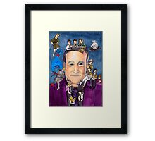 Robin Williams W/ back Framed Print