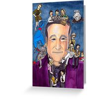 Robin Williams W/ back Greeting Card