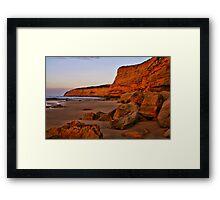"""Dawn at Bird Rock"" Framed Print"
