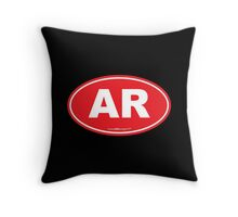 Arkansas AK  Euro Oval RED Throw Pillow