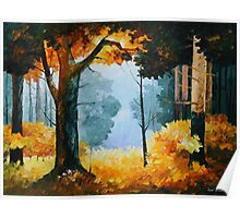 PINE WOOD limited edition giclee of L.AFREMOV painting Poster