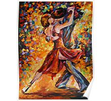 IN THE RITM OF TANGO limited edition giclee of L.AFREMOV painting Poster
